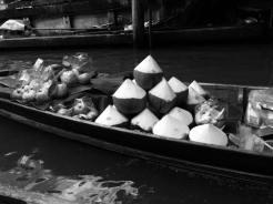 coconut floating market
